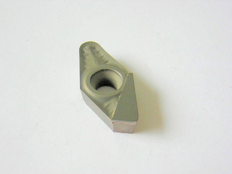 Plaquette avec insert PCD pour le fraisage de l'aluminium.