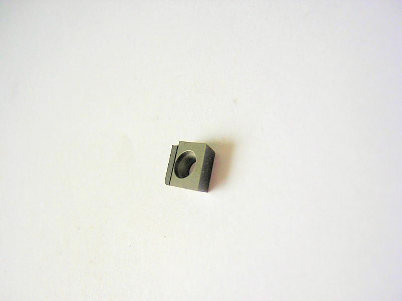 Plaquette avec insert PCD pour l'usinage de l'aluminium.