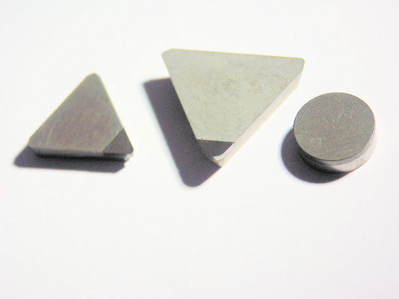 Plaquettes avec insert CBN pour l'usinage des alliages d'aluminium.