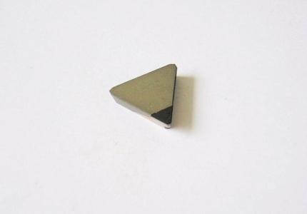 Plaquette avec insert PCD pour l'usinage des graphites et des composites.