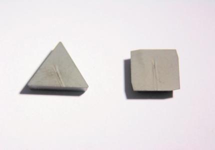 Plaquettes avec revêtement diamant pour l'usinage des composites.